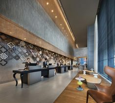 Book your stay at JW Marriott Hotel Singapore South Beach and enjoy accommodations, designer amenities, a luxury spa and dining near Marina Bay. Front Desk Hotel, Hotel Reception Desk, Reception Counter, Lobby Reception, Hotel Lobby Design, South Beach Singapore, Art Deco Hotel, Beach Room, Marriott Hotels