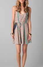 Twelfth St. by Cynthia Vincent Print Racer Back Flounce Dress