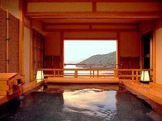 Japanese Hot Springs Hot Springs Japan, Japanese Hot Springs, Japanese Bath, Japanese House, Modern Japanese Architecture, Asian Architecture, Japan Highlights, Hot Springs Arkansas, Outdoor Baths