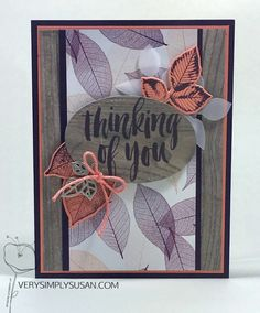 Rooted in Nature, Wood Textures DSP, #GDP148, Stampin' Up! Cards