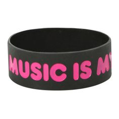 Best Bracelet 2017/ 2018 : Music Is My Boyfriend Rubber Bracelet | Hot Topic