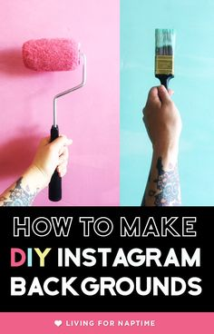 Make DIY backgrounds for Instagram for under $5.00 each using inexpensive supplies from Home Depot. Create cool Instagram Backgrounds to use for your blog photography.