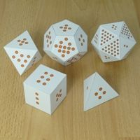Platonic Solids dice - One way to use these paper models Geometry Interactive Notebook, Interactive Math Journals, Math Games, Math Activities, Science Games, Diy Games, 2d And 3d Shapes, Tangram, Math Measurement