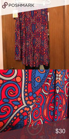 Lularoe Madison skirt Stretchy material and elastic waist never worn new with tags LuLaRoe Skirts Midi