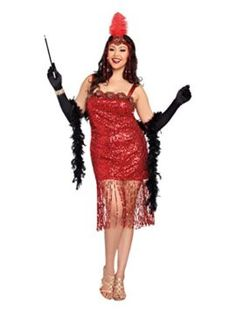Dreamgirl Womens Plus-Size Aint She Sweet Costume    Razzle and dazzle em on this crimson sequined flapper get dressed with lengthy sequin fringe a lovely rose applique neckline and an identical head piece. Pair this with considered one of dream mans 1920s maless costumes equivalent to birthday party at Gatsbys or just right time Charlie. 1920s crimson sequined flapper get dressed with lengthy sequin fringe a lovely rose appliqué neckline and head piece. Jeweled headpiece with ostrich…