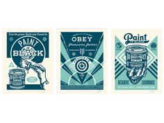 """Paint it Black - Blue Serie"" by @OBEYGIANT ON SALE TODAY @ A RANDOM TIME 99,5€ #GoodBoutique #StreetArt #StayTuned"