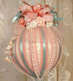 victorian chritmas ornaments   Handmade VICTORIAN CHRISTMAS Ornament   Peach Christmas Ideas