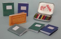 how to: crayons and notebooks-very cute for Saige or other artistic doll