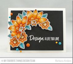 Fancy Flowers Stamp Set and Die-namics, Boss Babe Stamp Set - Barbara Anders    #mftstamps