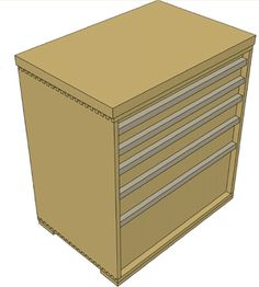 Steps for building a tool storage cabinet.