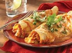 Cheesy Chicken Enchiladas (4 Points+ Per Serving)  ( #chicken #enchiladas