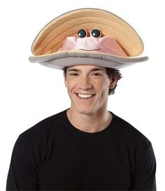 Unisex Adult Funny Deluxe Clam Hat Costume Accessory in Clothes, Shoes & Accessories, Fancy Dress & Period Costume, Accessories | eBay