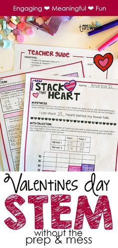 Graphing candy hearts in math is just too boring and more suited for little kids. Your 3rd, 4th, and 5th grade students need something a little more fun and engaging! This Valentine's Day STEM activity is the perfect challenge and it requires no prep and makes no mess. How many STEM activities can say that? This February build some fun math practice into your lesson plans with candy heart stacking!