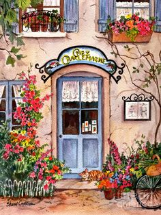 French Cafe Painting by Sherri Crabtree - French Cafe Fine Art Prints and Posters for Sale