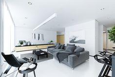 Intérieur blanc moderne- choisissez le minimalisme et oubliez toute couleur!