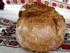 Paine de secara cu seminte de dovleac (1) Bread Recipes, Food And Drink, Pizza, Breads, Drinks, Healthy Food, Brot, Bread Rolls, Drinking