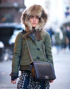 Chanel large lambskin boy bag