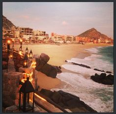 El Farallon restaurant in Cabo - built into the side of a cliff