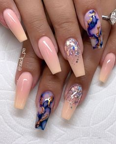 Today, we have listed 63 Pretty Patterns Nails Art Design Ideas. I believe that there is always one in these fashion nails that can touch your heart. Marble Nail Designs, Cute Acrylic Nail Designs, Nail Art Designs, Nails Design, Nail Crystal Designs, Summer Acrylic Nails, Best Acrylic Nails, Marble Acrylic Nails, Spring Nails