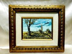 $425 auction 2018 Mid-20th S. Gruber Oil Painting On Board Panel - May 12, 2018 | Artbay's in CA Oil Paint On Wood, Painting On Wood, Vintage Art Prints, Frame It, Wood Paneling, American Artists, Wooden Frames, Auction, Landscape