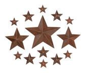 Mini Rustic Stars 14 pcs ~ These Would be So Cute On A Wall Between Picture Frames
