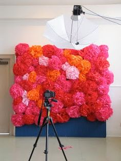 cool tissure wall.....sessions or a great backdrop for a photo booth at a party