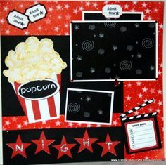 movie scrapbook page ideas - Google Search