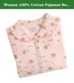 Woman 100% Cotton Pajamas Suit Thick Pink Bear L. Features: Skin-friendly, soft and comfortable Pill resistant, Don't fade in color and Don't deform Printed with environment-friendly dye Superb craft Reliable quality Specifications: Color: Red Rose, Blue Rose, Pink Sheep, Blue Sheep, Pink Dot, Purple Dot, Pink Bear, Yellow Bear, Pink Butterfly, Blue Butterfly, Blue Baby-sitter, Pink Baby-sitter, Pink Flower, Green Flower Size: M, L, XL Weight: 200g Material: combed cotton Size info(cm)...