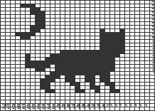 Crochet Cat Pattern, Crochet Cross, Crochet Chart, Knitting Paterns, Knitting Charts, Knitting Stitches, Cat Cross Stitches, Cross Stitching, Cross Stitch Embroidery