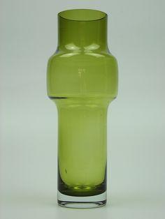 Riihimaki olive green cased glass vase. Designed by Tamara Aladin by art-of-glass, via Flickr
