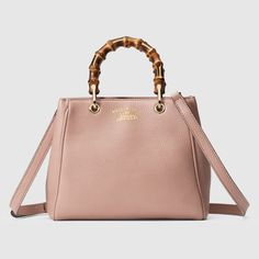 Gucci Bamboo Tote | Get the look: https://www.amazon.com/gp/product/B01GGUXKPE/ref=as_li_tl?ie=UTF8&camp=1789&creative=9325&creativeASIN=B01GGUXKPE&linkCode=as2&tag=w0608-20&linkId=3436284e73933245c8a6c20071eb8f7e | Powder Pink Mauve Leather Shopper Designer Handbag 323660 #Gucci