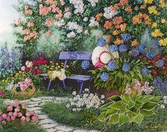 (1) Gallery.ru / Фото #1 - Blue Bench in a Rose Garden - Competition 2012 - marina-zherdeva