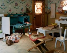 """The dioramas of Frances Glessner Lee. In the 1940s she created the """"Nutshell Studies of Unexplained Death"""" composite crime scene models recreated on a one-inch-to-one-foot scale. These macabre dioramas were purpose-built to be used as police training tools to help crime scene investigators learn the art and science of detailed forensics-based detection. by powwowworldwide"""