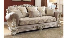 Give your home a elegant look with this victorian style sofa collection. Decorative wood crafted molding wraps the bottom and the top of the sofa frame, while wooden legs offer support and added detail. Living Room Upholstery, Living Room Furniture, Home Furniture, Wooden Furniture, Furniture Ideas, Outdoor Furniture, Sofa Design, Living Room Sets, Living Room Designs