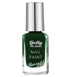 Barry M Gelly High Shine nail paint Black Pistachio 10ml - Boots