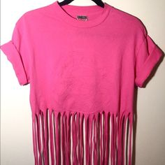 Skagway Alaska vintage fringe shirt Vintage shirt with fringes . Power t-shirt. Thick and soft pre shrunk 100% cotton. Made in USA. Good condition. Like new. Tops Tees - Short Sleeve