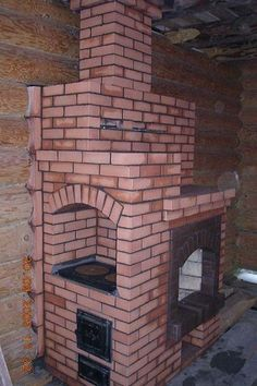 An example of a bespoke fireplace/oven made from brick. York Handmade are able to offer bricks to achieve this look. Small Kitchen Floor Plans, Outdoor Kitchen Plans, Outdoor Oven, Restaurant Kitchen Design, Kitchen Design Open, Luxury Kitchen Design, Lemon Kitchen Decor, Kitchen Island Decor, Vintage Kitchen Decor