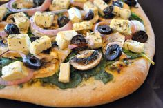 This is my go-to whole wheat pizza crust recipe. I love making it in the bread maker---so easy!