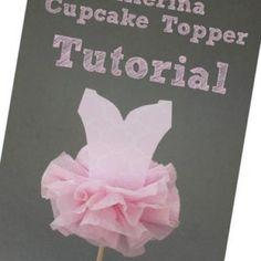 Tutu Ballerina Cupcake Toppers {Cupcake Toppers}
