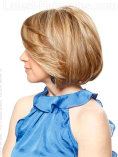 Swept Away Casual Blonde Bob with Layers