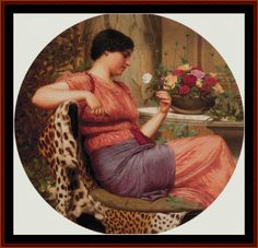 The Time of Roses, 1916 - Godward cross stitch pattern by Cross Stitch Collectibles | Crafting | Cross-Stitch | Wall Hangings