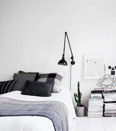 Monochrome interior, bedroom black, monochrome fashion, bedroom wall, home bedroom Monochrome Bedroom, Monochrome Interior, Bedroom Black, Small Room Bedroom, Master Bedroom Design, Bedroom Colors, Bedroom Decor, Bedroom Designs, Bedroom Ideas