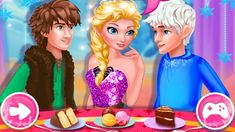 Elsa True Love Jack vs Hiccup, our frozen princess Elsa needs to decide between the courtships of two handsome men. Jack Frost and Hiccup are both very in love with Elsa so she is having a very hard time deciding which one of them is her true love. Princess Games, Frozen Princess, Princess Zelda, Disney Princess, Elsa, Hiccup, Free Fun, Jack Frost, Free Games