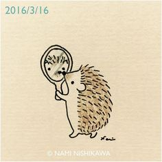 793 #illustration #hedgehog #イラスト #ハリネズミ #illustagram