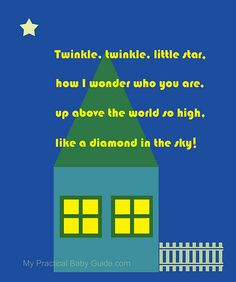 Free #Nursery #Wall #Art Home at Night Twinkle Twinkle Little Star... This is a perfect #gift to give a new mom on her #baby #shower. Want see more? Pin & Click !
