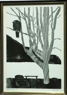 Klaus Dechert (1930-2007) German Moku Hanga printmaker.