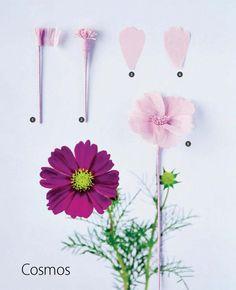 Cosmos Flower - Paper Flower DIY #ClippedOnIssuu desde 1310