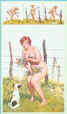 Hilda plockar blommor.
