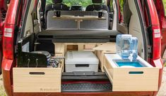 Removable, Ecologic, Fast and Easy to Install Conversion kit Roadloft. Fits most minivans, Dodge Grand Caravan, Sienna or Odyssey. Caravan Conversion, Minivan Camper Conversion, Suv Camper, Build A Camper Van, Mini Camper, Honda Odyssey, Dodge, Ford Windstar, Minivan Camping