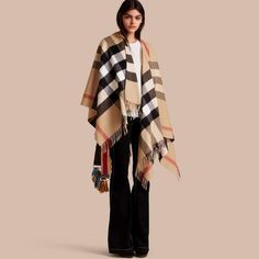 Burberry Check Cashmere and Wool Poncho aa66d0a9cab5